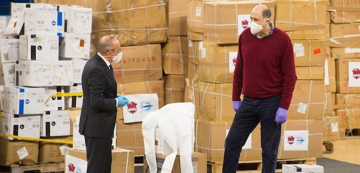 Alavés-Baskonia sale al 'mercado' del material sanitario
