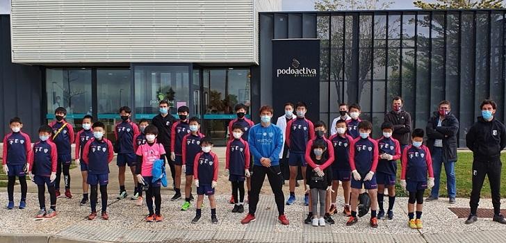 De Japón a Huesca por el fútbol