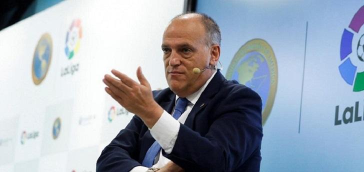 """Javier Tebas: """"Florentino Pérez miente, han ido a reventar el sistema"""""""