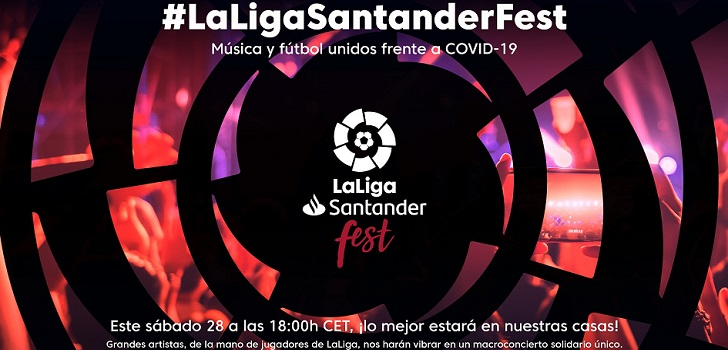 LaLigaSantander Fest es una iniciativa puesta en marcha en colaboración con Banco Santander, Universal Music y el resto de espónsors