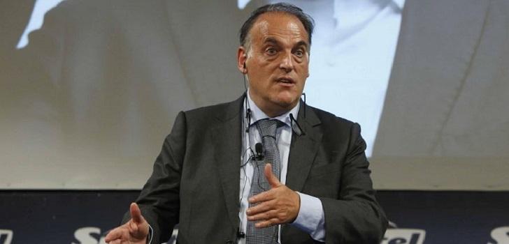 """Javier Tebas (LaLiga): """"La irrupción de las plataformas 'OTT' están trayendo una disminución de ingresos"""""""