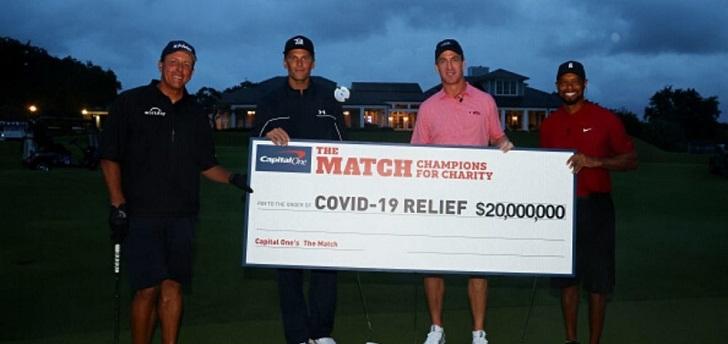 Brady, Woods y un hoyo en uno para donar 20 millones frente al Covid-19
