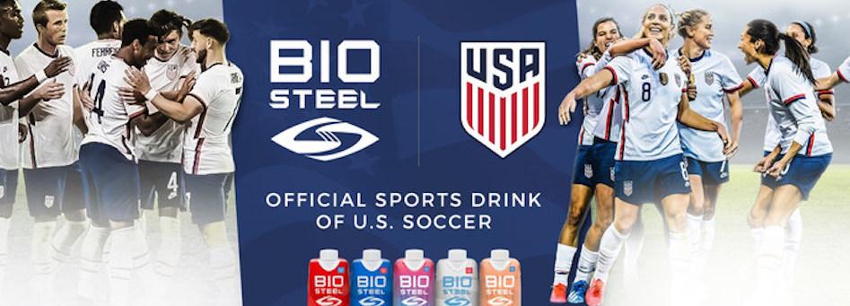 US Soccer firma con la bebida deportiva BioSteel