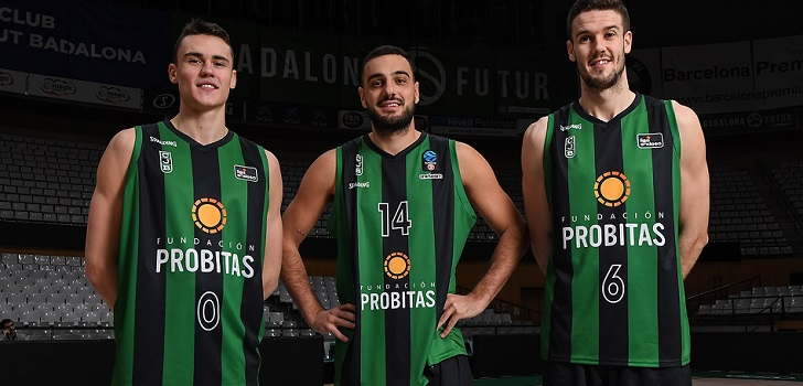 Neno Dimitrijevic, Albert Ventura y Xabi López-Arostegui, con la camiseta patrocinada por Fundación Probitas / Foto: David Grau