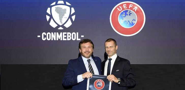 Uefa y Conmebol plantean organizar competiciones entre Europa y Sudamérica