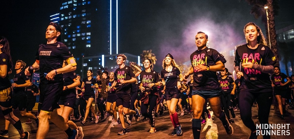 Reebok apoya los Midnight Runners que se organizan en diez capitales del mundo y que busca promover la práctica deportiva y el entretenimiento.
