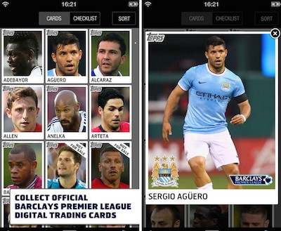 Captura de la 'app' Topps Kick de la Premier League.