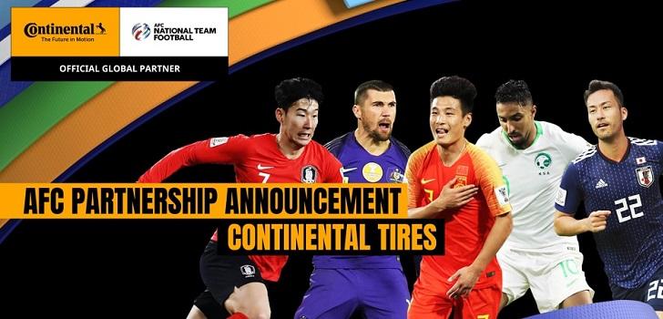 La Confederación Asiática de Fútbol aumenta su acuerdo con Continental hasta 10 millones por cuatro años