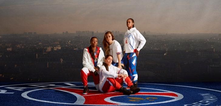 La bandera francesa y 'Jumpman', protagonistas de la colección femenina del PSG
