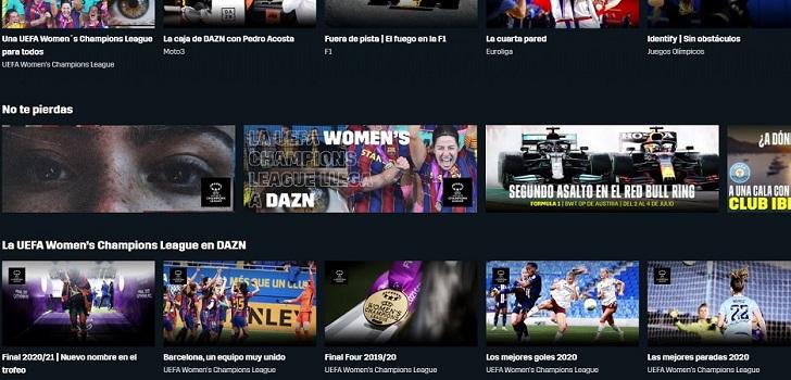 Dazn sigue con su expansión: más interacción, deporte femenino y deportes de combate